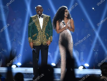 Steve Harvey and Cheslie Kryst