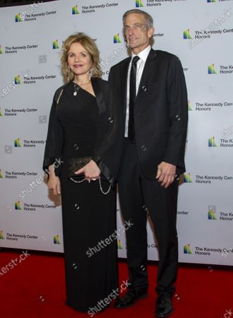 Renee Fleming and her husband, Tim Jessell arrive for the formal Artist's Dinner honoring the recipients of the 42nd Annual Kennedy Center Honors at the United States Department of State in Washington, DC, USA, 07  December 2019 (Issued 08 December 2019). The 2019 honorees are Earth, Wind & Fire, Sally Field, Linda Ronstadt, Sesame Street, and Michael Tilson Thomas.