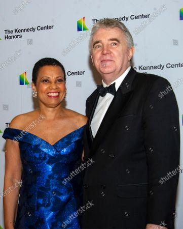 Harolyn Blackwell and Peter Greer arrive for the formal Artist's Dinner honoring the recipients of the 42nd Annual Kennedy Center Honors at the United States Department of State in Washington, DC, USA, 07  December 2019 (Issued 08 December 2019). The 2019 honorees are Earth, Wind & Fire, Sally Field, Linda Ronstadt, Sesame Street, and Michael Tilson Thomas.