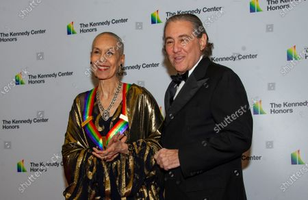 Stock Image of Carmen de Lavallade (L) and Charles Mirotznik (R) arrive for the formal Artist's Dinner honoring the recipients of the 42nd Annual Kennedy Center Honors at the United States Department of State in Washington, DC, USA, 07  December 2019 (Issued 08 December 2019). The 2019 honorees are Earth, Wind & Fire, Sally Field, Linda Ronstadt, Sesame Street, and Michael Tilson Thomas.