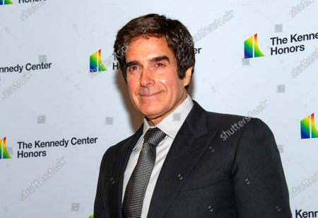 Stock Photo of David Copperfield arrives for the formal Artist's Dinner honoring the recipients of the 42nd Annual Kennedy Center Honors at the United States Department of State in Washington, DC, USA, 07  December 2019 (Issued 08 December 2019). The 2019 honorees are Earth, Wind & Fire, Sally Field, Linda Ronstadt, Sesame Street, and Michael Tilson Thomas.