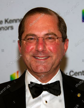 United States Secretary of Health and Human Services (HHS) Alex Azar arrives for the formal Artist's Dinner honoring the recipients of the 42nd Annual Kennedy Center Honors at the United States Department of State in Washington, DC, USA, 07  December 2019 (Issued 08 December 2019). The 2019 honorees are Earth, Wind & Fire, Sally Field, Linda Ronstadt, Sesame Street, and Michael Tilson Thomas.