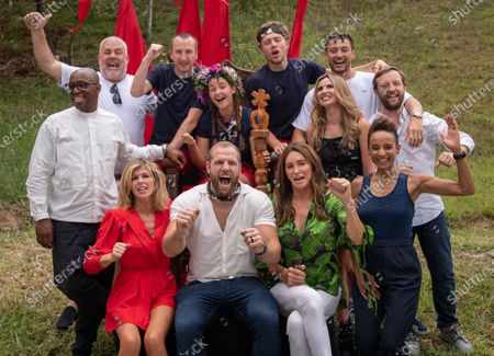 Queen of the Jungle, Jacqueline Jossa with campmates, Ian Wright, Cliff Parisi, Andy Whyment, Roman Kemp, Myles Stephenson, Nadine Coyle, Andrew Maxwell, Kate Garraway, James Haskell, Caitlyn Jenner and Adele RobertsQueen of the Jungle, Jacqueline Jossa with campmates, Ian Wright, Cliff Parisi, Andy Whyment, Roman Kemp,