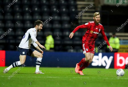 David Nugent of Preston North End and Tim Ream of Fulham