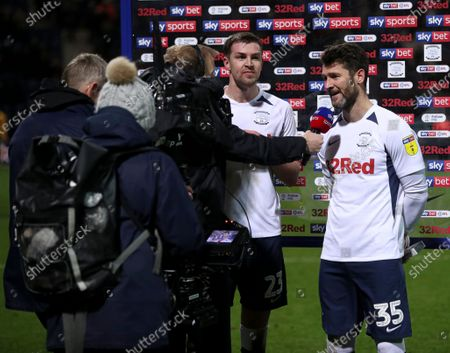 David Nugent of Preston North End is interviewed by Sky Sports
