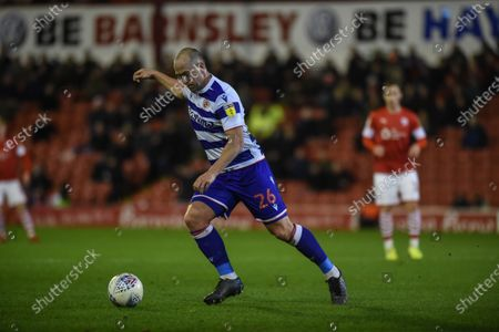 Stock Picture of 11th December 2019, Oakwell, Barnsley, England; Sky Bet Championship, Barnsley v Reading : Charlie Adam (26) of Reading FC Credit: Dean Williams/News Images