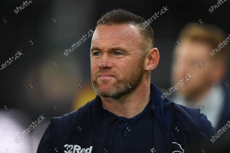 11th December 2019, Pride Park Stadium, Derby, England; Sky Bet Championship, Derby County v Sheffield Wednesday : Derby County Player-Coach Wayne Rooney 