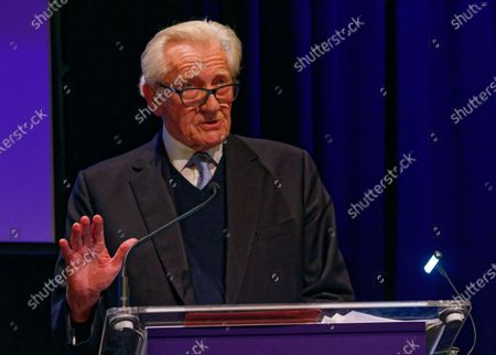Stock Picture of The Rt Hon The Michael Heseltine, Conservative politician and former cabinet minister during a rally at the Mermaid Theatre to encourage tactical voting in the upcoming general election and demand a public vote on the outcome of Brexit on 06 December, 2019 in London, England. The rally, organised by the Vote for a Final Say campaign and For our Future's Sake, takes place ahead of the last week of campaigning for the 12 December General Election.