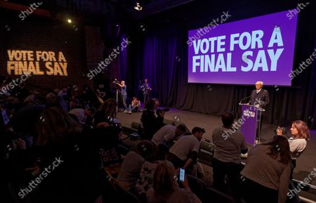 Editorial photo of 'Stop The Brexit Landslide' Rally, London, UK - 06 Dec 2019