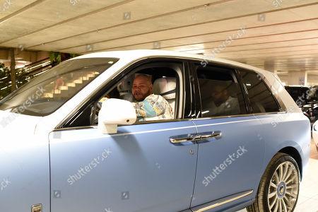 Fat Joe leaving in his Rolls Royce
