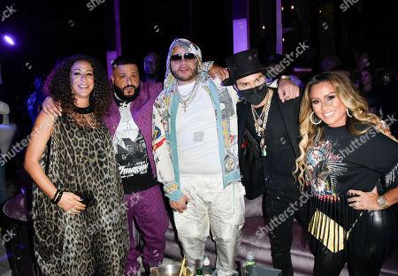 Nicole Khaled, DJ Khaled, Fat Joe, Alec Monopoly and Alexa Dellanos