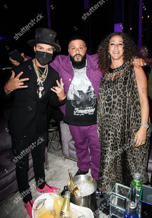 Alec Monopoly, DJ Khaled and Nicole Khaled