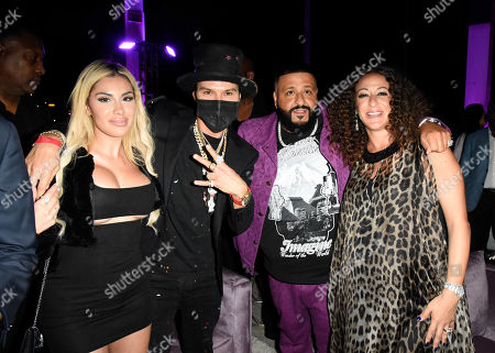 Alexa Dellanos, Alec Monopoly, DJ Khaled and Nicole Khaled