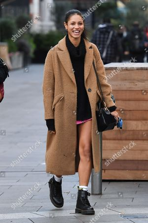 Editorial photo of Vick Hope out and about, London, UK - 09 Dec 2019