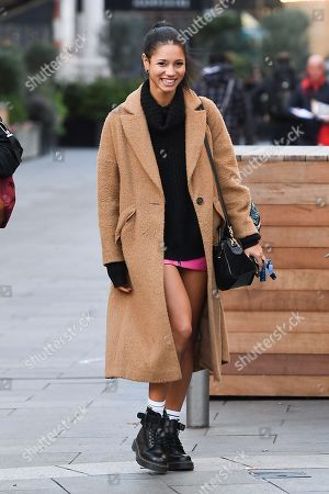 Editorial image of Vick Hope out and about, London, UK - 09 Dec 2019