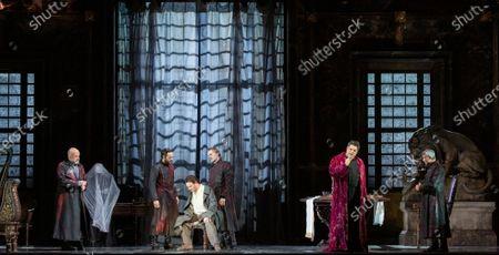 Editorial photo of 'La Tosca' Opera by Giacomo Puccini, La Scala Opera Theatre, Milan, Italy - 01 Dec 2019