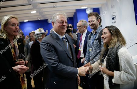 Former U.S. Vice President Al Gore meets delegates at the COP25 Climate summit in Madrid, Spain,. A global U.N.sponsored climate change conference is taking place in Madrid