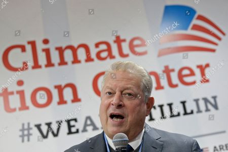 Former U.S. Vice President Al Gore speaks at the COP25 Climate summit in Madrid, Spain,. A global U.N.sponsored climate change conference is taking place in Madrid