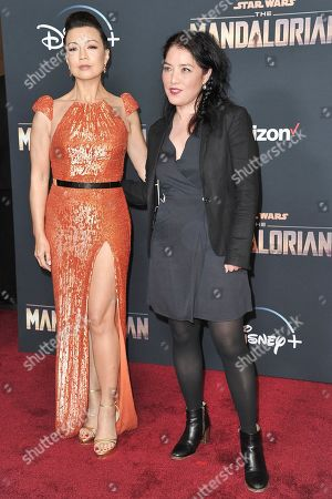 """Ming-Na Wen, Deborah Chow. Actress Ming-Na Wen, left, and director Deborah Chow at the premiere of """"The Mandalorian"""" in Los Angeles. Chow directed an episode of the popular Disney Plus series"""