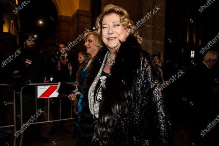 Stock Photo of Diana Bracco upon arrival for the Premiere at La Scala Theatre