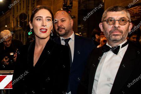 Stock Picture of Maria Elena Boschi and Ivan Scalfarotto upon arrival for the Premiere at La Scala Theatre