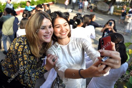 Editorial image of Julia Roberts, Michelle Obama and Jenna Bush Hager visit Vietnam, Can Giuoc, Viet Nam - 09 Dec 2019