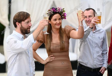 Andrew Maxwell, Jacqueline Jossa and Andy Whyment