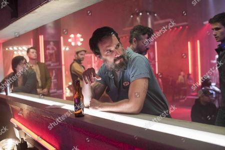 Rodrigo Santoro as Joel Hart and Shane Callahan as Bru