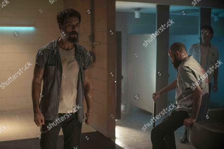 Stock Image of Rodrigo Santoro as Joel Kelly and Rory Cochrane as Burt Harlow