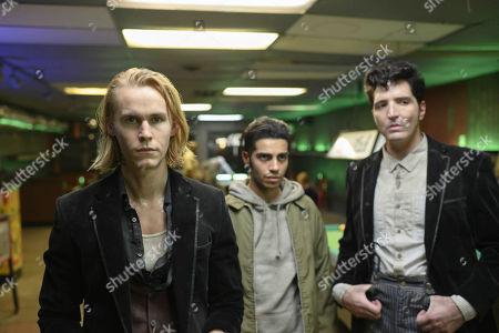 Rhys Wakefield as Matty, Mena Massoud as Ethan Hart and David Dastmalchian as Johnson