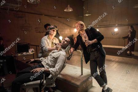 Mena Massoud as Ethan Hart and Rhys Wakefield as Matty