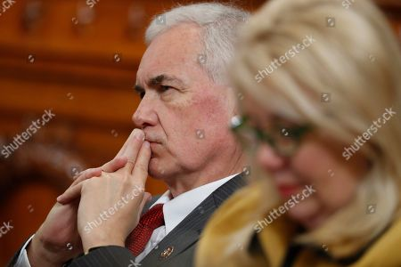 Rep. Tom McClintock, R-Calif., and Rep. Debbie Lesko, R-Ariz., listen as the House Judiciary Committee hears investigative findings in the impeachment inquiry of President Donald Trump, on Capitol Hill in Washington