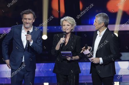 Stock Picture of Jean-Paul Rouvre, Sophie Davant et Nagui