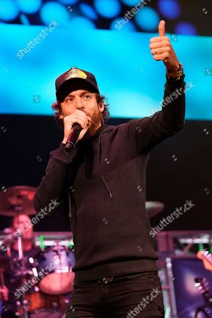 Stock Image of Chris Janson performs during the US99 Stars and Strings concert at the Allstate Arena, in Rosemont