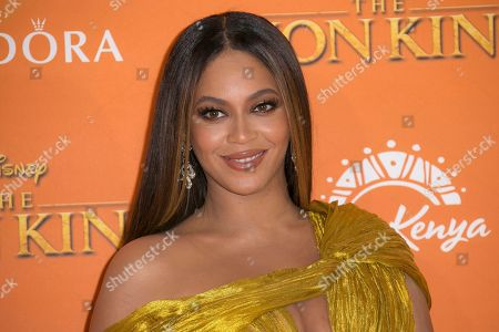 """Beyonce at the """"Lion King"""" premiere in London. Beyonce, along with Timothy McKenzie and Ilya Salmanzadeh, were nominated for a Golden Globe for best original song for """"Spirit,"""" from the film """"The Lion King"""
