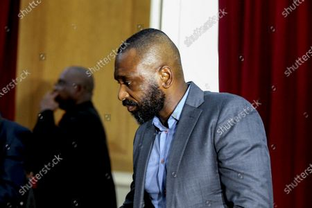 The former president of the Sovereign Fund of Angola, Jose Filomeno 'Zenu' dos Santos, son of Angola's former President Jose Eduardo dos Santos, waits for the beginning of his trial for embezzlement and money laundering at the Supreme Court Criminal Chamber in Luanda, Angola, 09 December 2019. The trial , in which the former governor of the National Bank of Angola (BNA), Valter Filipe (unseen), is also accused, originally was scheduled for earlier this September but reportedly was postponed at request of the former BNA governor's lawyer.