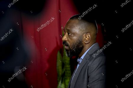 Stock Photo of The former president of the Sovereign Fund of Angola, Jose Filomeno 'Zenu' dos Santos, son of Angola's former President Jose Eduardo dos Santos, waits for the beginning of his trial for embezzlement and money laundering at the Supreme Court Criminal Chamber in Luanda, Angola, 09 December 2019. The trial , in which the former governor of the National Bank of Angola (BNA), Valter Filipe (unseen), is also accused, originally was scheduled for earlier this September but reportedly was postponed at request of the former BNA governor's lawyer.
