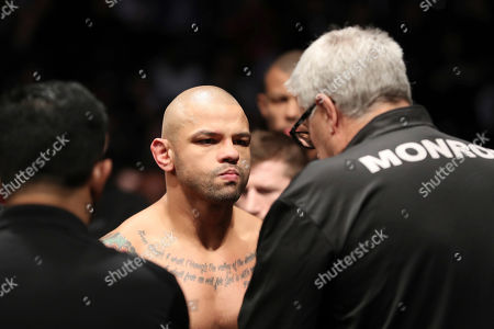 Thiago Alves is seen before his mixed martial arts bout at UFC Fight Night, in Washington, D.C