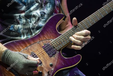 Steve Morse performs during the concert of the British rock band Deep Purple in Papp Laszlo Budapest Sports Arena in Budapest, Hungary, 09 December 2019.