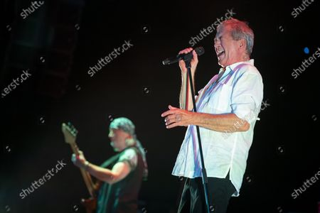 Ian Gillan performs during the concert of the British rock band Deep Purple in Papp Laszlo Budapest Sports Arena in Budapest, Hungary, 09 December 2019.