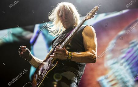 Stock Picture of Steve Morse performs during the concert of the British rock band Deep Purple in Papp Laszlo Budapest Sports Arena in Budapest, Hungary, 09 December 2019.
