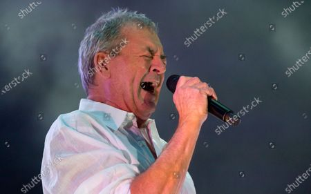 Stock Picture of Ian Gillan performs during the concert of the British rock band Deep Purple in Papp Laszlo Budapest Sports Arena in Budapest, Hungary, 09 December 2019.
