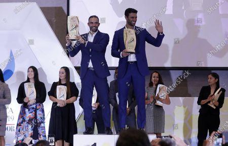 Editorial photo of Egan Bernal, Sebastian Cabal and Robert Farah receive award of athletes of the year in Colombia, Bogota - 09 Dec 2019