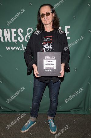 Editorial image of 'Geddy Lee's Big Beautiful Book of Bass' book signing, New York, USA - 09 Dec 2019