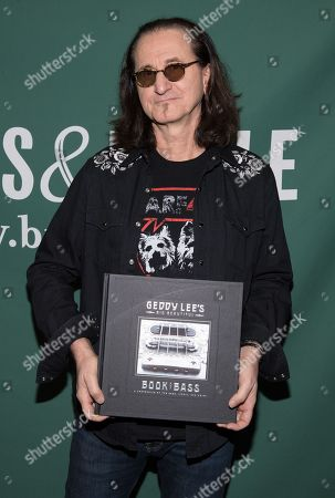 Editorial picture of 'Geddy Lee's Big Beautiful Book of Bass' book signing, New York, USA - 09 Dec 2019