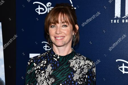 """Stock Image of Julianne Nicholson attends a screening of """"Togo"""", hosted by Disney Plus and The Cinema Society, at iPic Theater, in New York"""