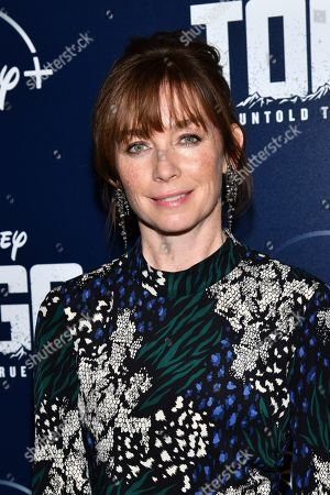 """Stock Picture of Julianne Nicholson attends a screening of """"Togo"""", hosted by Disney Plus and The Cinema Society, at iPic Theater, in New York"""