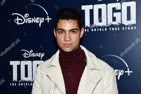 "Stock Photo of Davi Santos attends a screening of ""Togo"", hosted by Disney Plus and The Cinema Society, at iPic Theater, in New York"