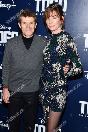 """Willem Dafoe, Julianne Nicholson. Willem Dafoe and Julianne Nicholson attend a screening of """"Togo"""", hosted by Disney Plus and The Cinema Society, at iPic Theater, in New York"""