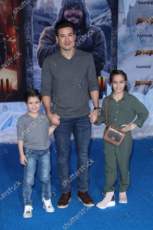 Stock Photo of Dominic Lopez, Mario Lopez and Gia Francesca Lopez